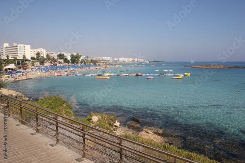 Fotobehang Cyprus Protaras. Tourist beach resort town in Cyprus.