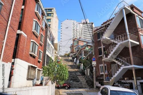 Plexiglas Seoel ソウルの住宅街