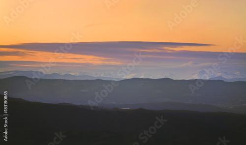 Foto op Plexiglas Lavendel View from mountain of Montserrat near Barcelona. Spain