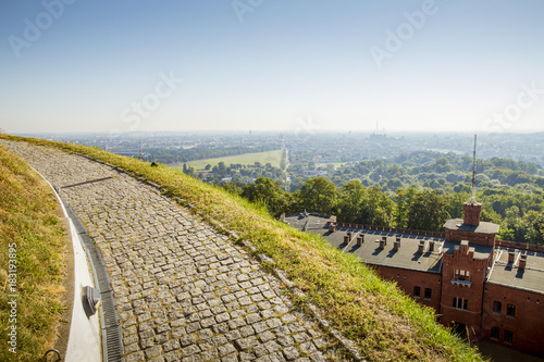 Papiers peints Cracovie Panorama of Krakow city from Kosciuszko Mound
