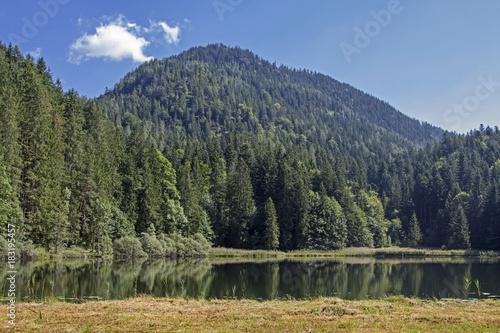 Deurstickers Bergen Bichler See im Mangfallgebirge