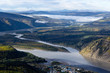 View of Yukon and Klondike River over Dawson City, Yukon, Canada