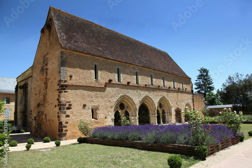 Poster Lavendel Abbaye bénédictine de Massay.