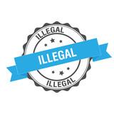 Illegal stamp illustration - 183201042