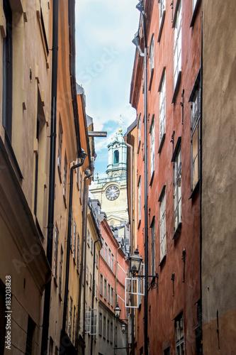Fototapeta buildings in old town stockholm