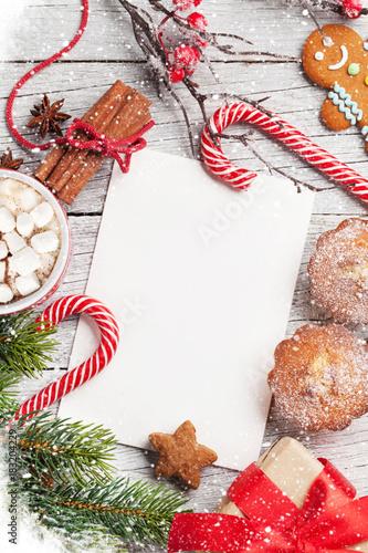 Fotobehang Hoogte schaal Christmas greeting card