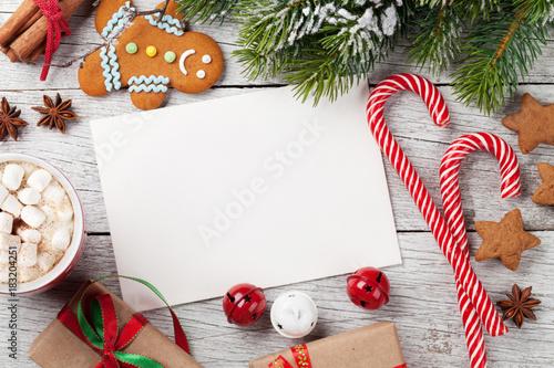 Papiers peints Echelle de hauteur Christmas greeting card