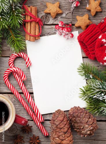 Fototapeta Christmas greeting card