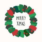 Christmas Greeting Card Template - 183207821