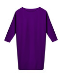Classic violet office business dress with long sleeves isolated on white - 183209226