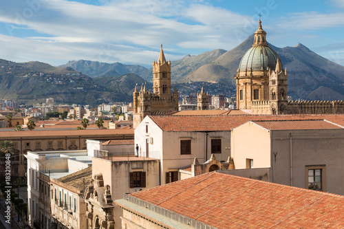 Fotobehang Palermo Panorama of the city of Palermo in Sicily, Italy