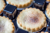 Closeup View Spicy Christmas Mince Pies in Plastic Pack - 183212047