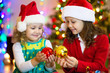 little girls in christmas - 183217276