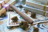 Blunt Surrounded With Money & Bud High Quality