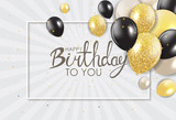 Abstract Happy Birthday Background Card Template Vector Illustration - 183233011