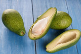 Avocado on a wooden background - 183235092
