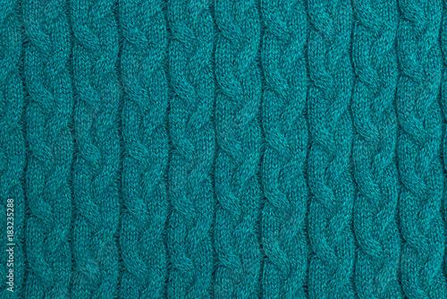 Woolen knitted green background