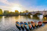 Richmond River Thames boats and bridge - 183236045