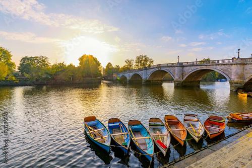 Richmond River Thames boats and bridge