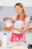 baking tasty pie and ingredients - 183236430