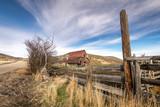 Rustic old rusty barn on an Idaho ranch - 183236626