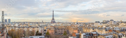 Paris skyline Eiffel tower - 183241418