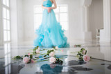 Elegant woman in ballroom - 183242459