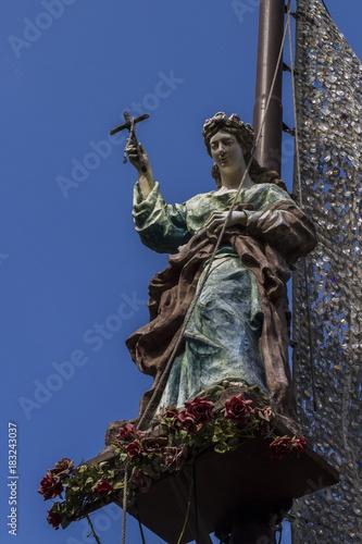 Staande foto Palermo Santa Rosalia Palermo Processione