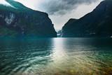 Rainy fjord