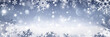 Snowflakes Falling On Snow - Winter Banner