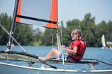 man sailing alone - 183252636