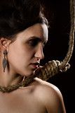 woman with noose - 183258499