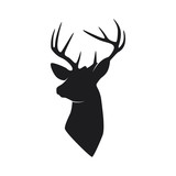 silhouette head deer