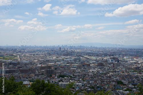 Plexiglas Zwart 生駒山からの大阪の遠景