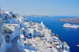 View from Fira, Santorini island in Greece - 183275631