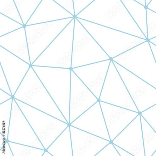 Polygonal seamless background. Geometric line blue and white pattern for wallpapers and textile - 183276839