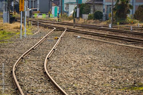 Foto op Plexiglas Spoorlijn 線路が合流する場所