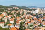 Aerial View of Sibenik old town panorama, view from Barone fortress: SIBENIK,CROATIA,May 28,2017 - 183278825