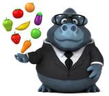 Fun gorilla - 3D Illustration - 183278888