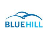 Line Art Blue Hill Logo Symbol - 183281271