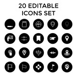 Pointer icons. set of 20 editable filled and outline pointer icons - 183287608