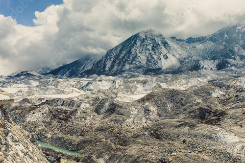Foto op Canvas Blauwe jeans Mountain landscape with beautiful nature. Himalaya mountain view, Sagarmatha national park, Nepal.