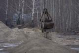Heavy duty bucket of the dredging platform - 183290682
