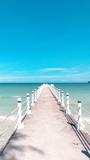 Beautiful pier in the ocean on Cambodian Koh Rong Sanloem - 183291685