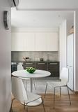 Interior of modern kitchen in scandinavian apartment. - 183292244