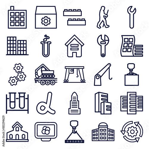 Fototapeta Set of 25 development outline icons