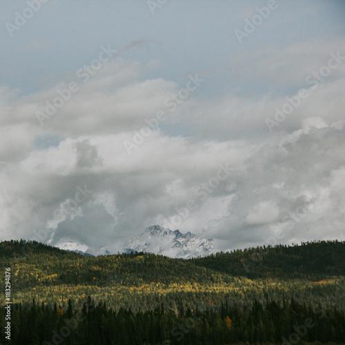 Aluminium Donkergrijs mountain landscape