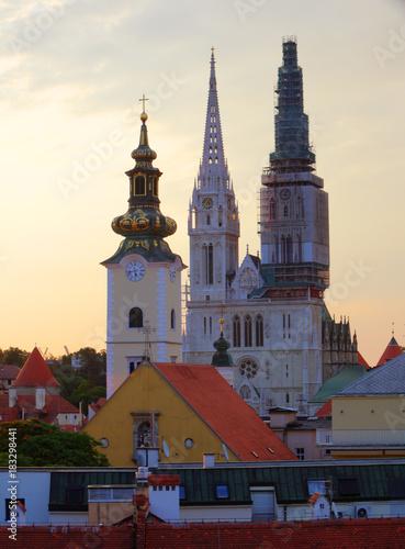 Fototapeta Zagreb, cathedral in Croatia
