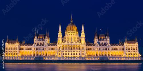 In de dag Boedapest Hungarian Parliament Building