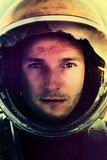 Space mission .Closeup portrait of an Astronaut in outer space  - 183310049